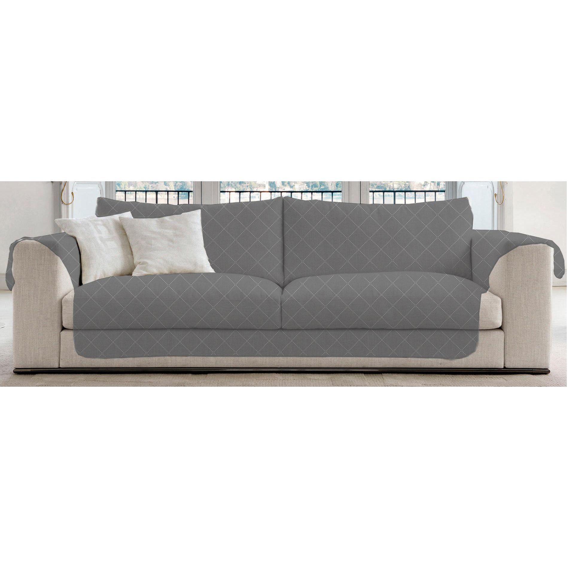 UNIVERSAL Lauren Taylor Diamond quilted Sofa Slipcover Diamond