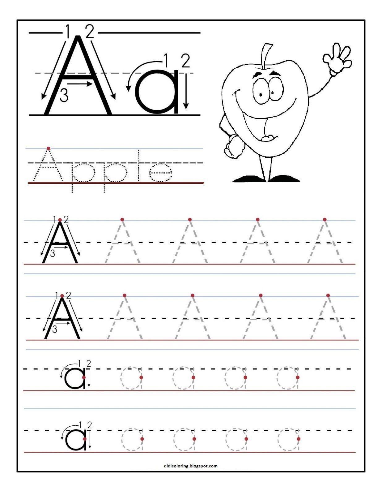 Free Preschool Kindergarten Worksheets Letters Alphabet Printing Letters Letter R Tracing Worksheets Letterherkenning Letter A [ 1600 x 1236 Pixel ]