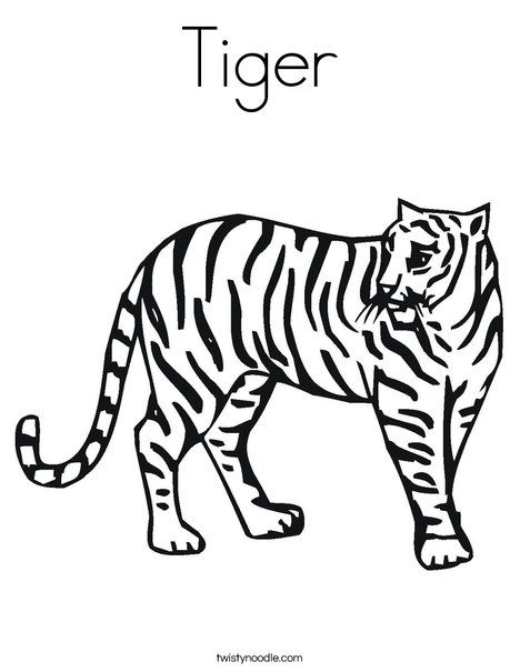 Tiger Coloring Page 이미지 포함