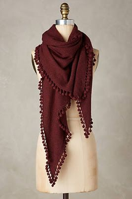 Pommed Cashmere Scarf New in November  Favorites Shoes and Accessories 51bcf902134