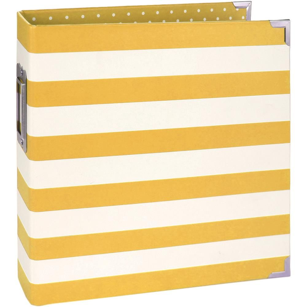 Simple Stories Sn@p Designer Binder 6x8inch Yellow Stripe