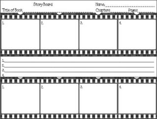 Story Board Worksheet For Reading