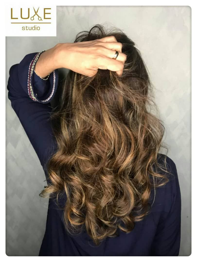 Hot New Colors From Luxe Studio Babylight Gold Sand Color With Korean S Curl Cool Hairstyles Best Hair Salon Hair Treatment