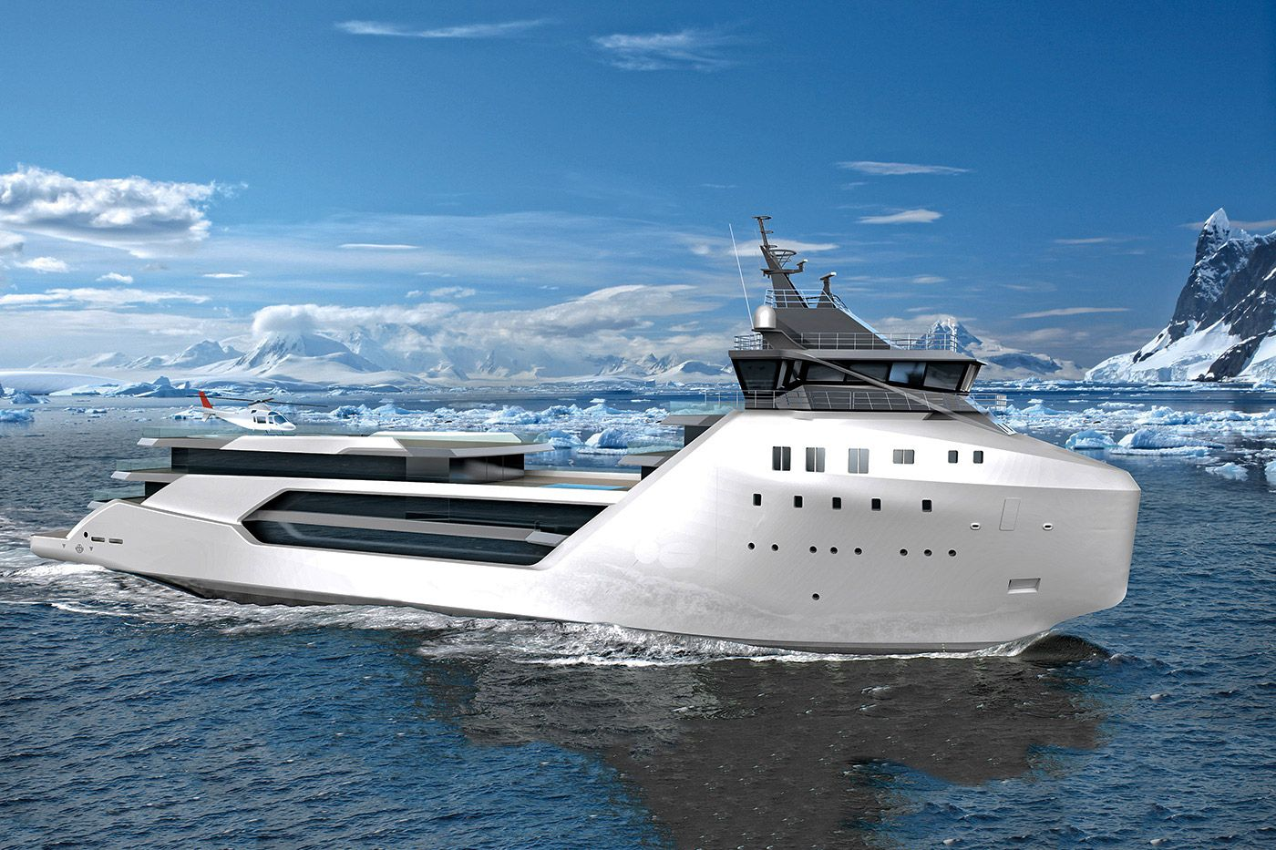 Most Yachts Are Built To Sail The Waters Of The Caribbean Or - Giga yacht takes luxury oil tanker sized extreme