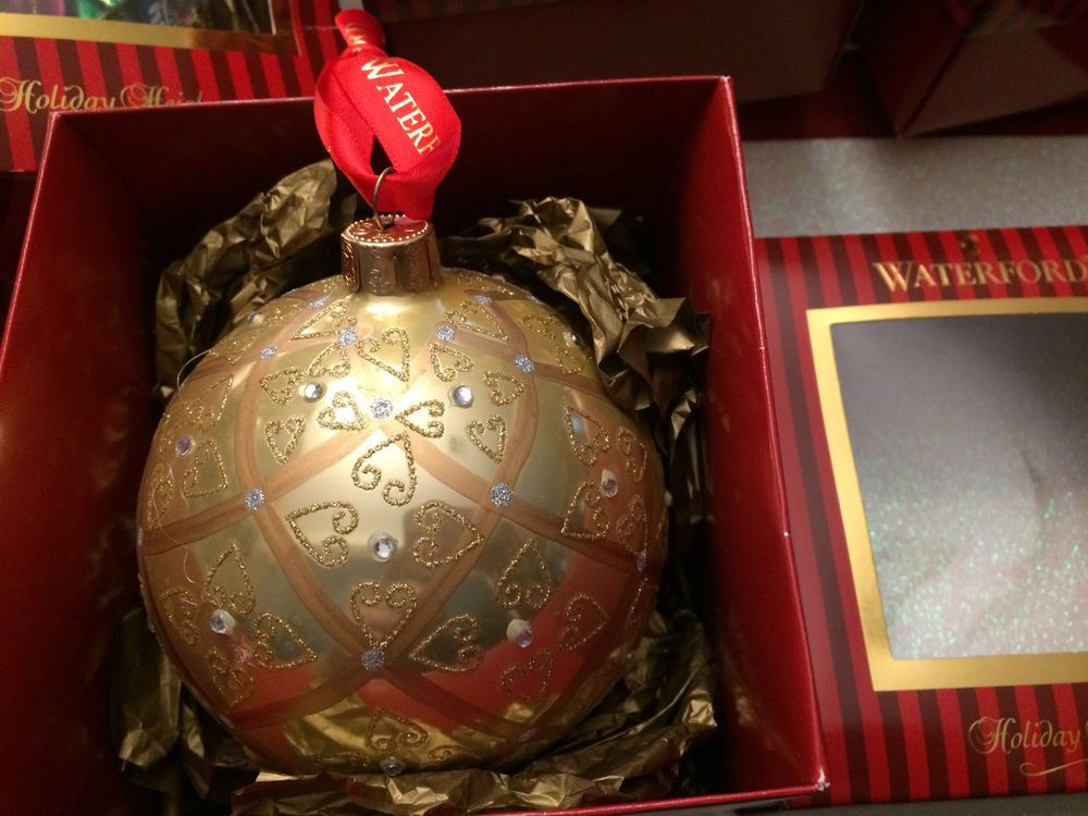 "Waterford Christmas Ornament ""Celtic Scroll Ball"" 4 1/4"" high  