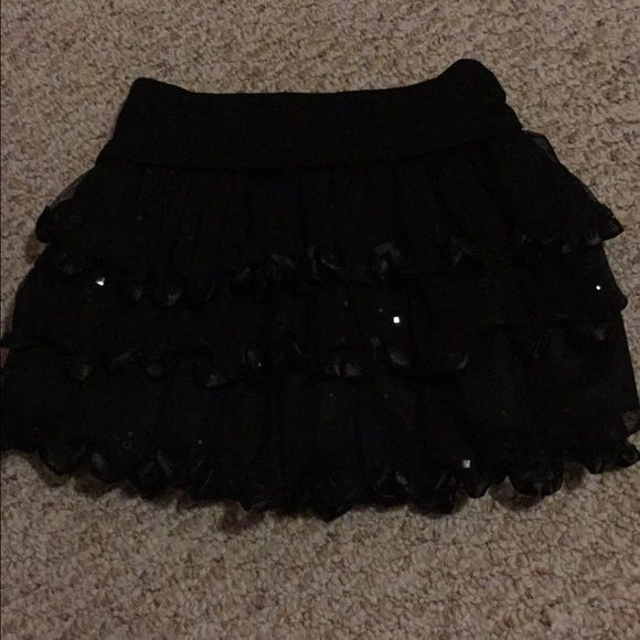 Sparkly Skirt Black Sparkly Skirt.... Brand new and never worn! Skirts