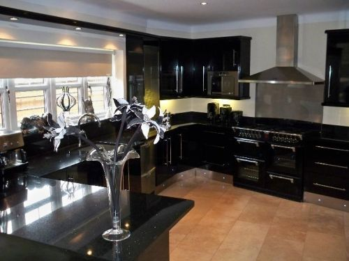 Black Granite Countertops With Dark Cabinets Roselawnlutheran