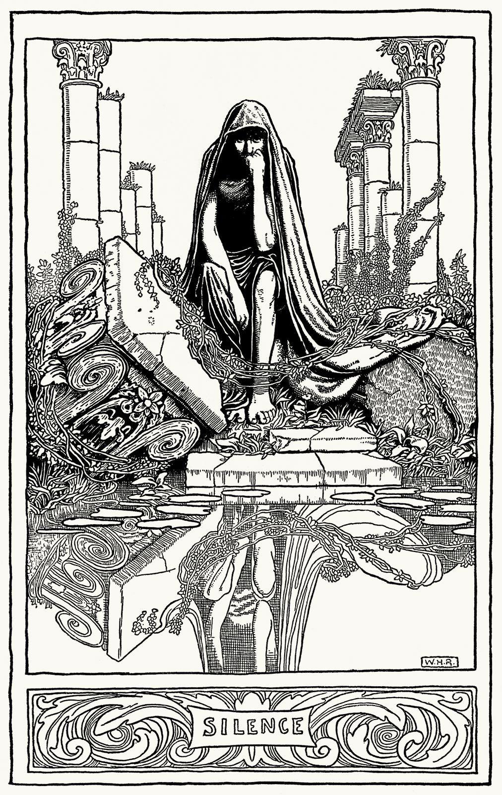 Silence. William Heath Robinson, from The poems of Edgar