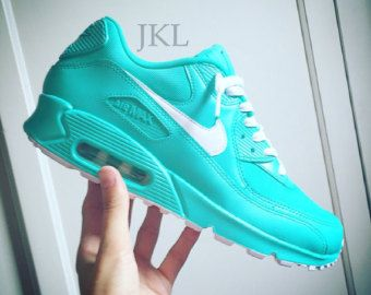 best service 1b786 dba3a Tiffany Nike Air Max  drips  unisex customs. by JKLcustoms on Etsy
