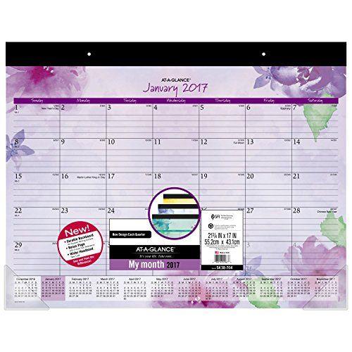 ataglance desk pad calendar 2017 monthly 2134 x 17