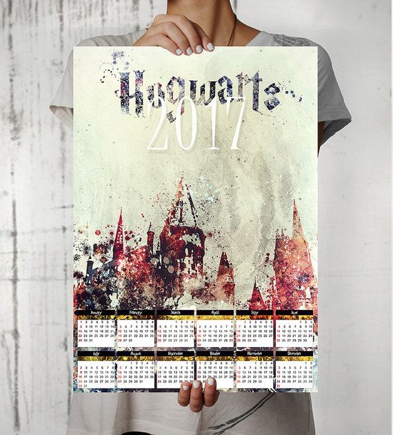 Printable  Calendar Harry Potter Calendar  Hogwarts
