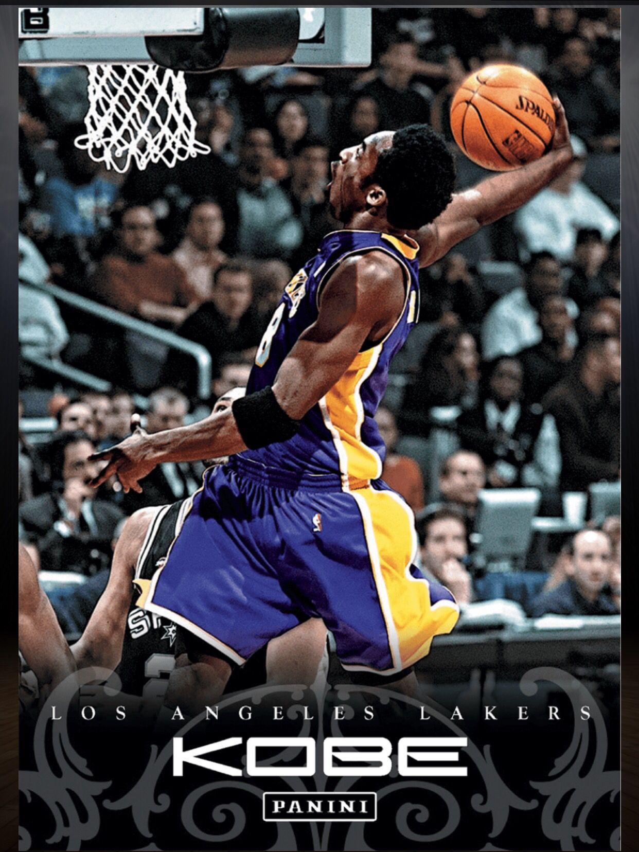 Kobe Bryant Los Angeles Lakers 43 Kobe Anthology Card 2015 2016 Panini Dunk Kobe Bryant Basketball Cards Kobe