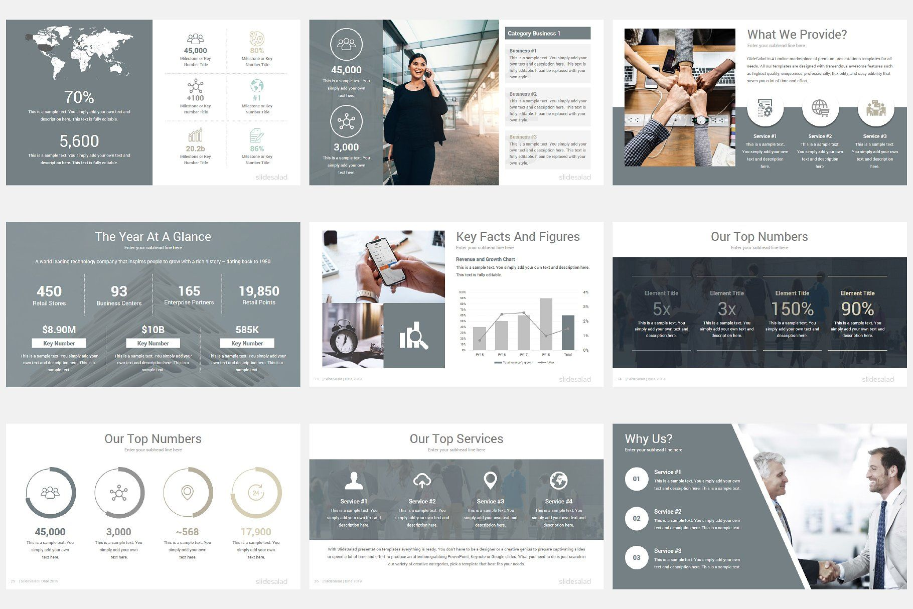 Modern Company Profile Powerpoint Tons Free Vector Edit
