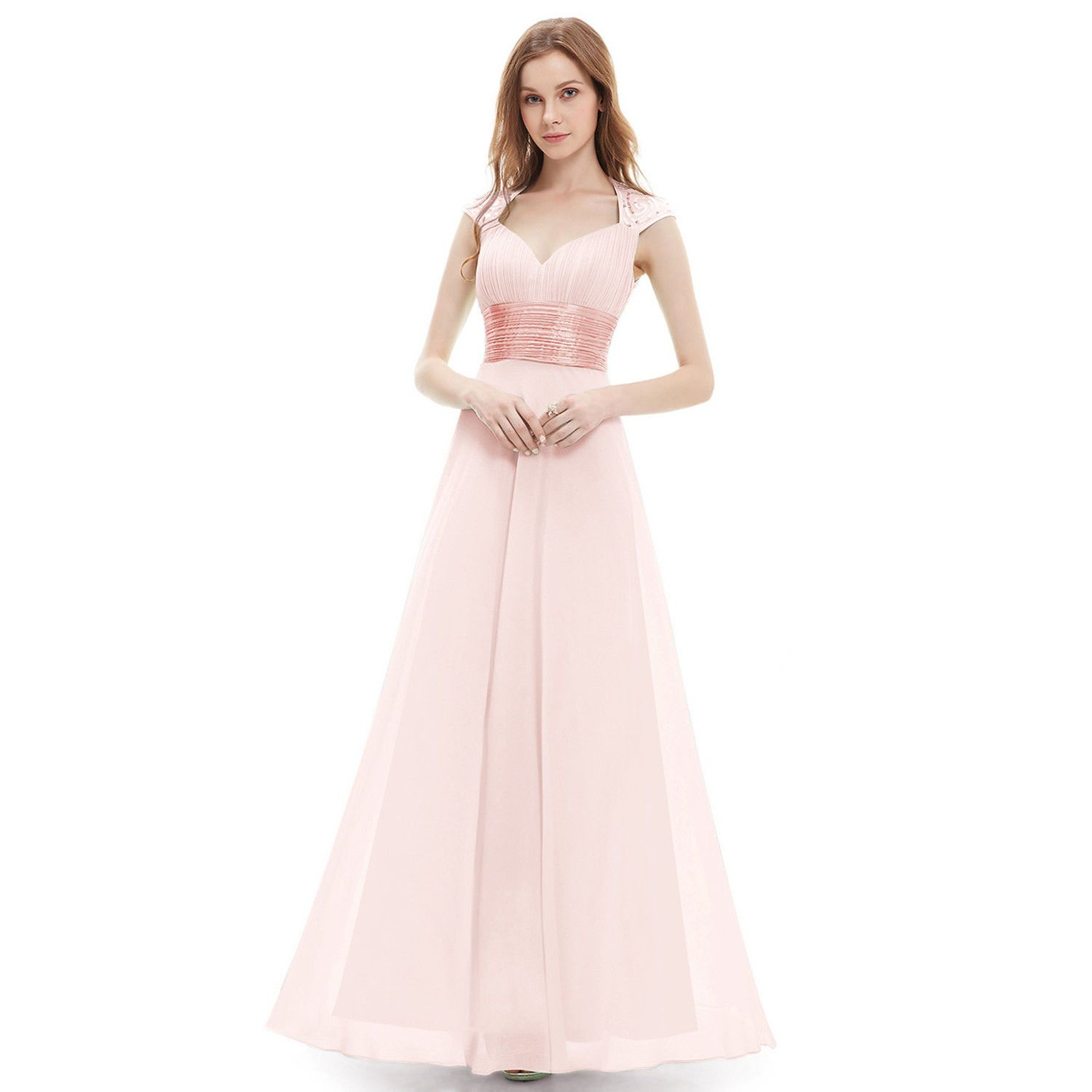 Awesome great long chiffon bridesmaid dress evening formal party