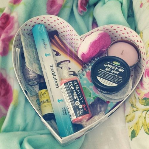 Self Care Box Picture. Lovely Idea For Down Days.