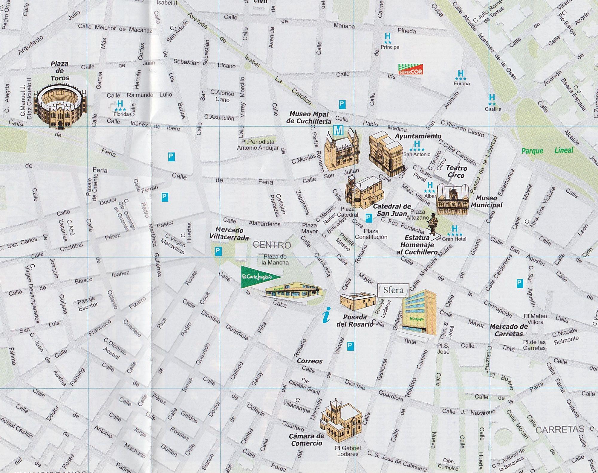 Street Map Of Albacete Spain