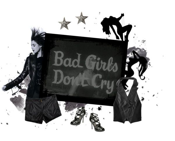 """""""Bad girls don't cry"""" by emmasiobhan ❤ liked on Polyvore"""