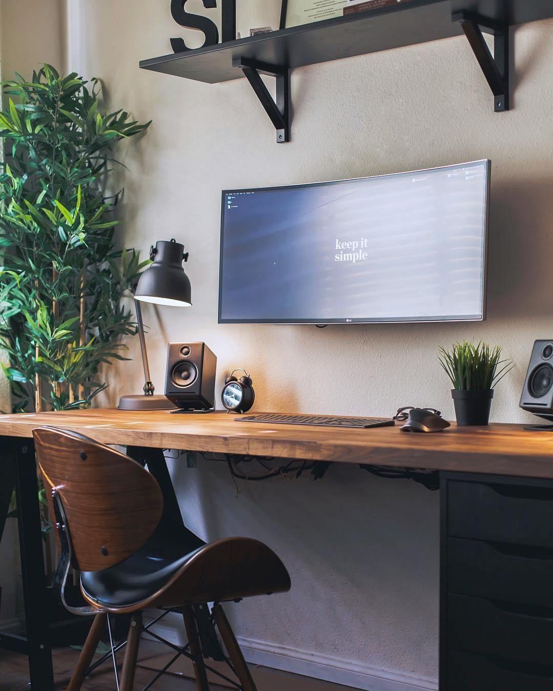 Interior Design Homeoffice: Minimal Setups LG Ultrawide Workspace With Docked