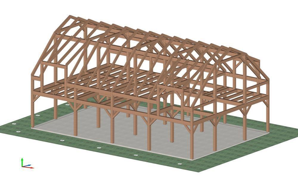 Plans Barn Gambrel Roof House Tall Barn Storage Shed Idaho Phoenix Barn Planning Timber Frame Barn Timber Frame Barn House Roof Gambrel