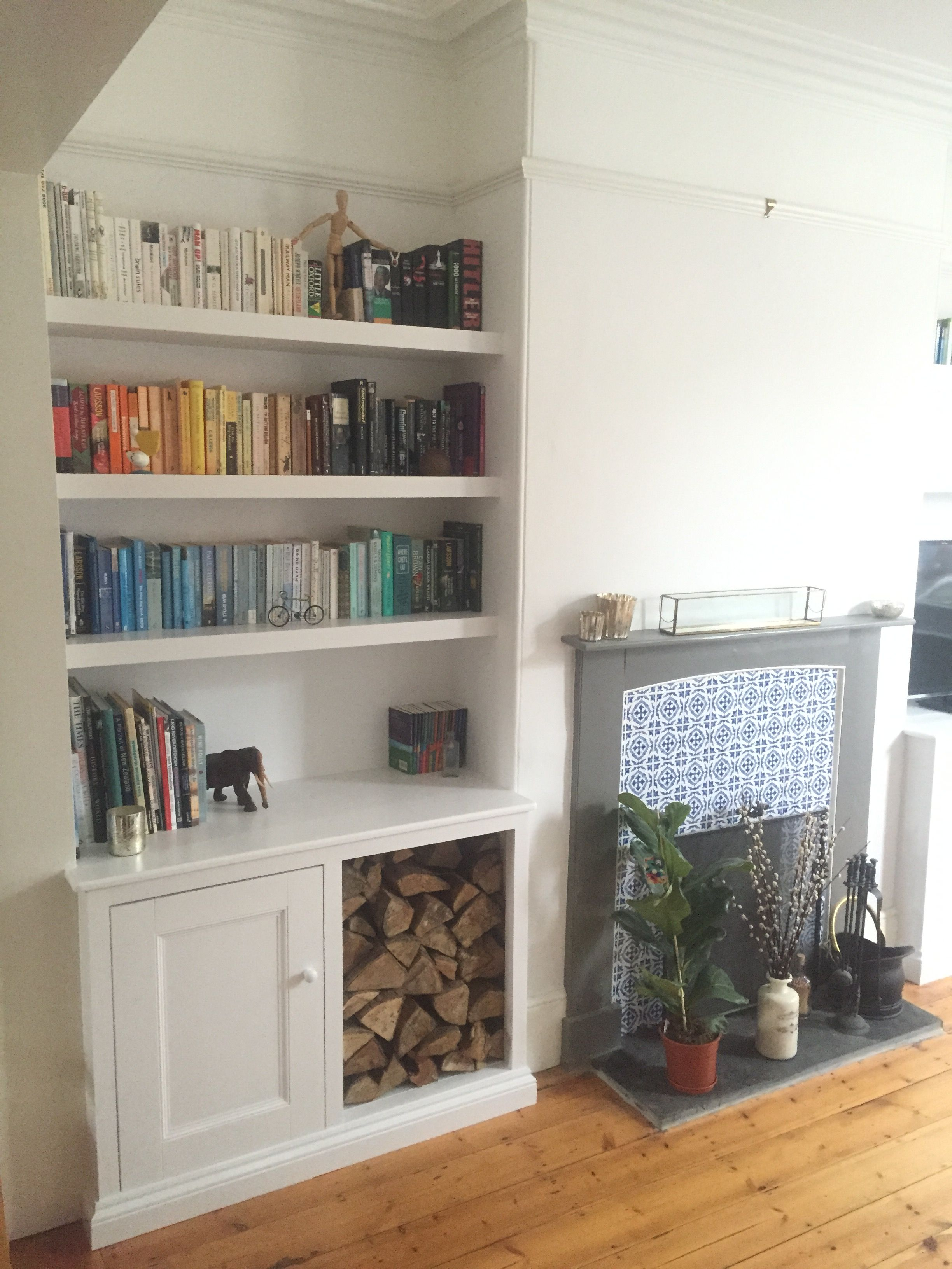 Exeter Alcove Unit With Removable Doors Great For Log Storage