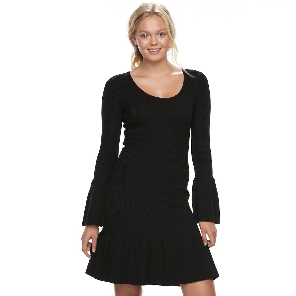 Almost famous juniorsu bell sleeve sweater dress products