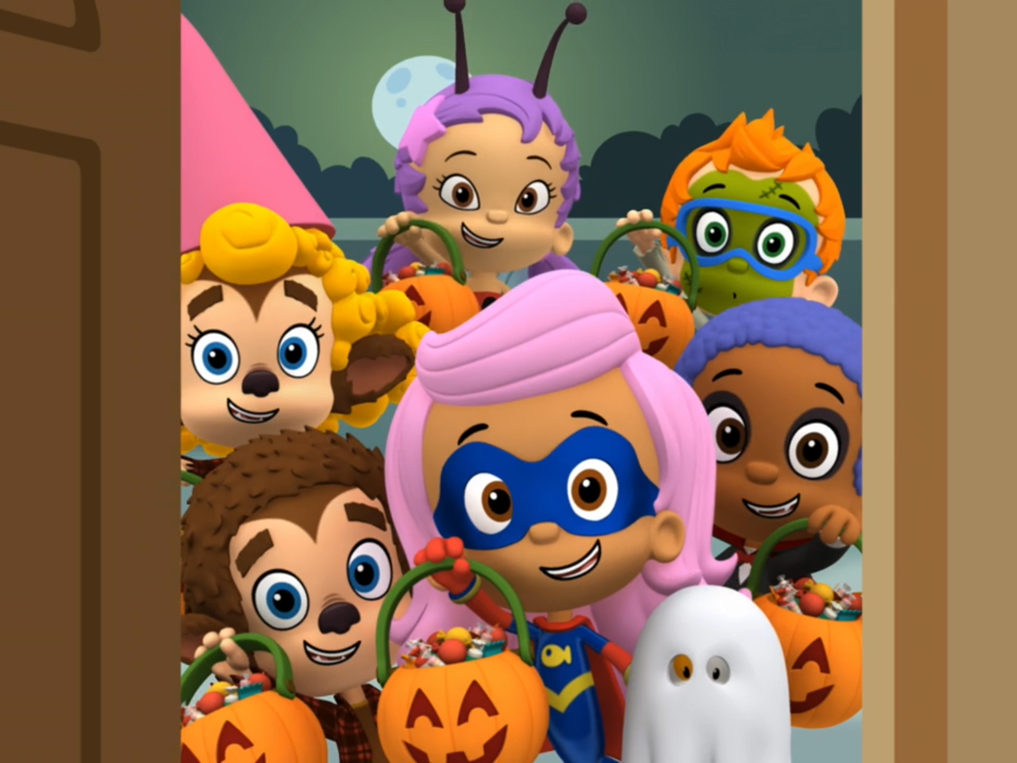 Happy Halloween To The Bubble Guppies To Have A Spooky Fun Bubble Guppies Happy Halloween Mario Characters