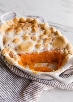 Sweet Potato Casserole with Marshmallows - small batch recipe