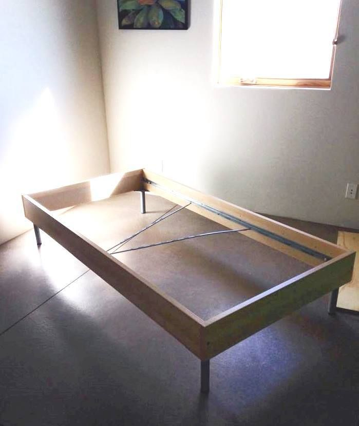 Turn An Ikea Twin Bed Into A Mid Century Modern Daybed Ikea Bed