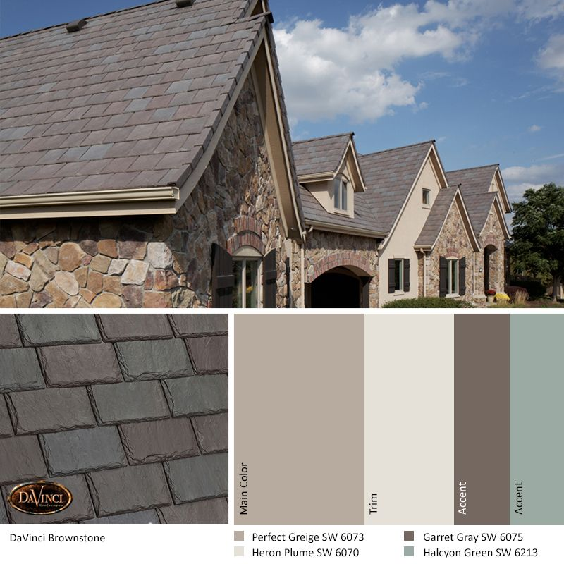 Best Exterior Color Scheme Brownstone Davinci Slate Roof 400 x 300