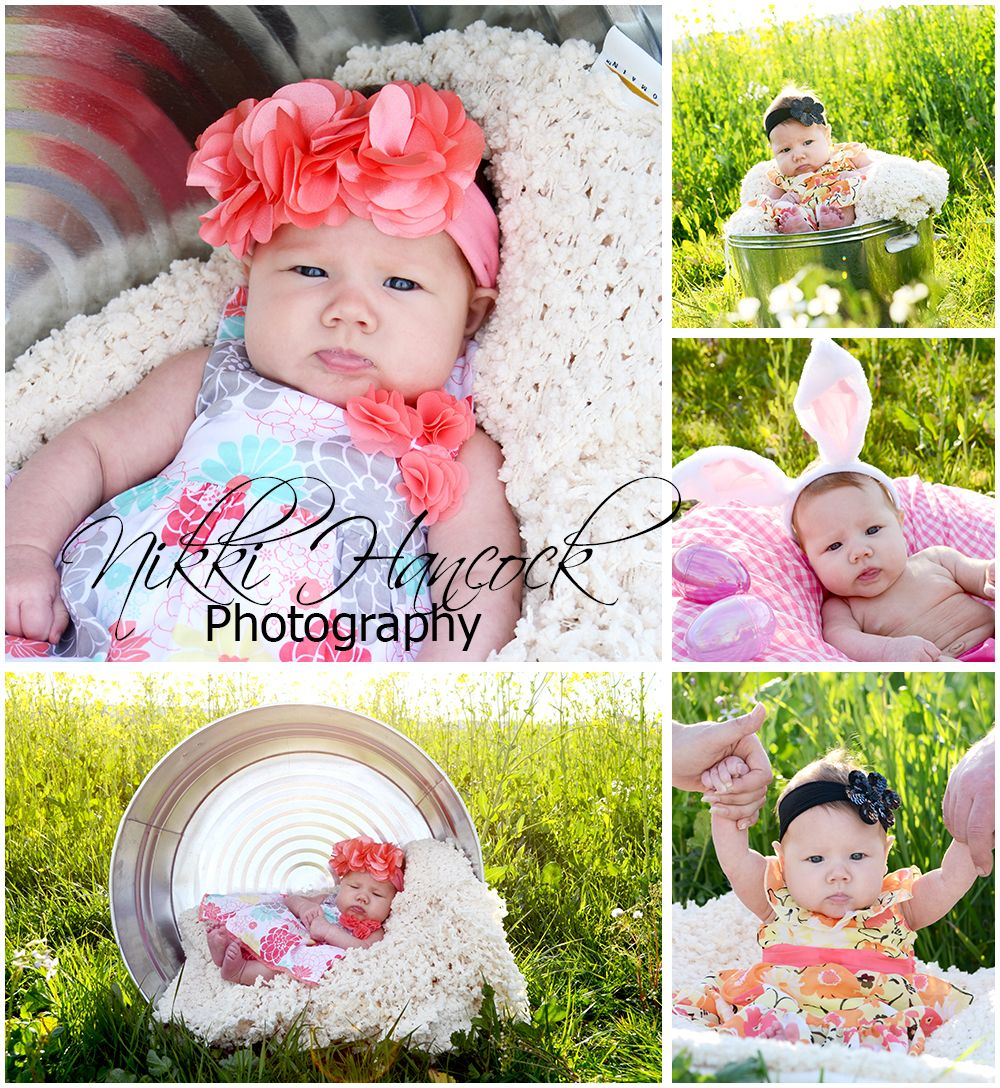 Spring easter shoot for 3 month old alyssa spring for 4 month baby photo ideas
