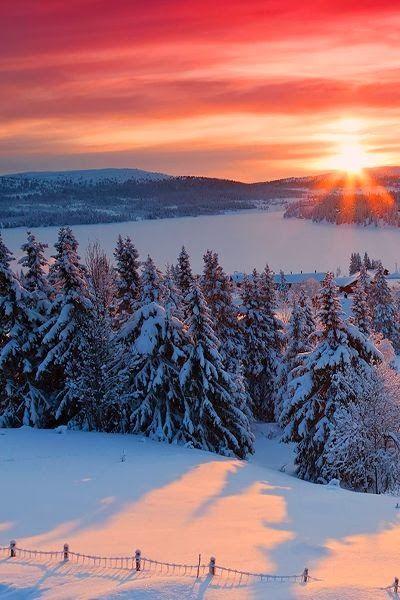 Vistas deslumbrantes do nascer do sol: