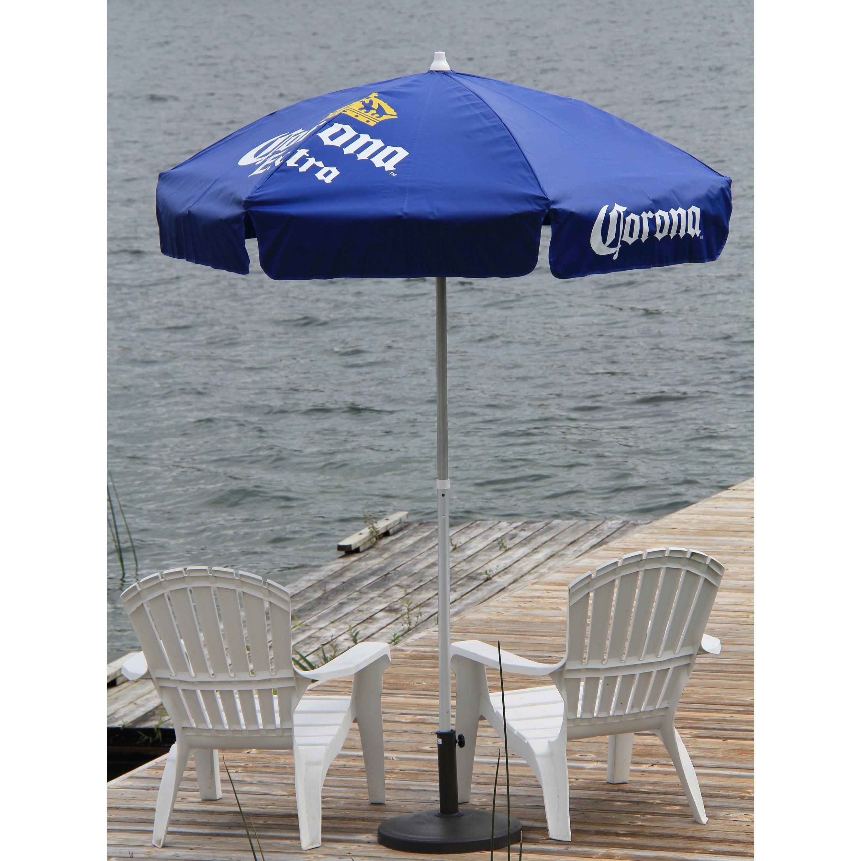 DestinationGear Corona Vinyl 6 Foot Patio Umbrella (6 Ft Corona Patio), Blue