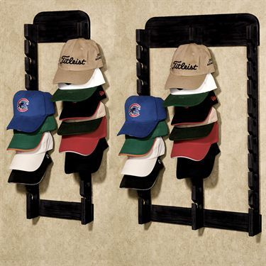 Wood Cap Display Wall Rack Holds Up To 30 Hats Cap Display Hat Display Wall Display