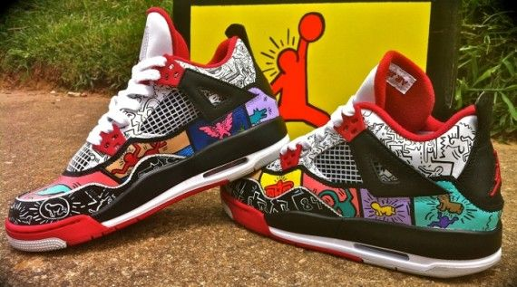 Air Jordan IV Keith Haring by District Customs  a8cf4a792