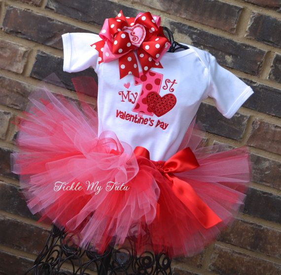 My First Valentine\'s Day Tutu Outfit-My First Valentine\'s Day Tutu ...