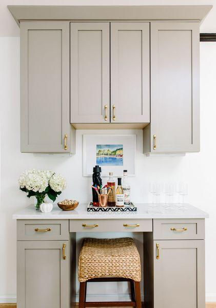This design by alison giese is kitchencabinetgoals get the look scoutandnimble shop our - Grauer schreibtisch ...