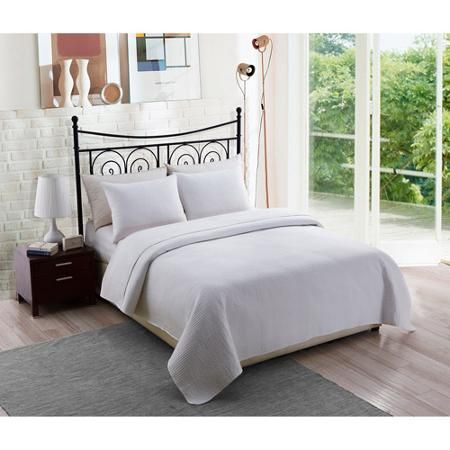 Solid White Bedding Quilt Set