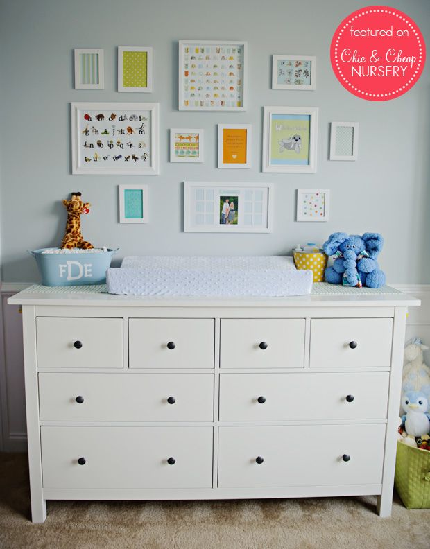 Nurseries Ikea Dresser As A Changing Table In Baby Blue Boy Nursery I Already Have This