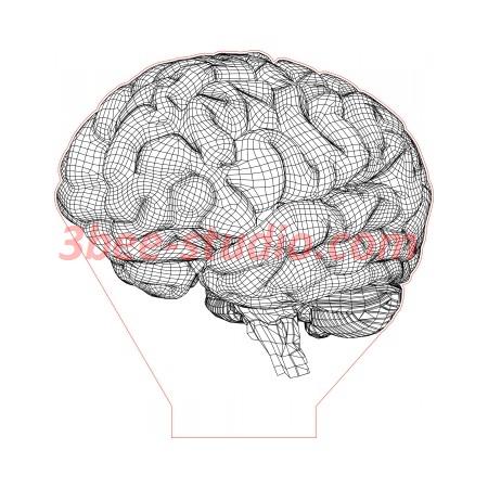 Brain 3d Illusion Lamp Plan Vector File For Laser And Cnc 3bee Studio In 2020 3d Illusion Lamp 3d Illusions Illusions