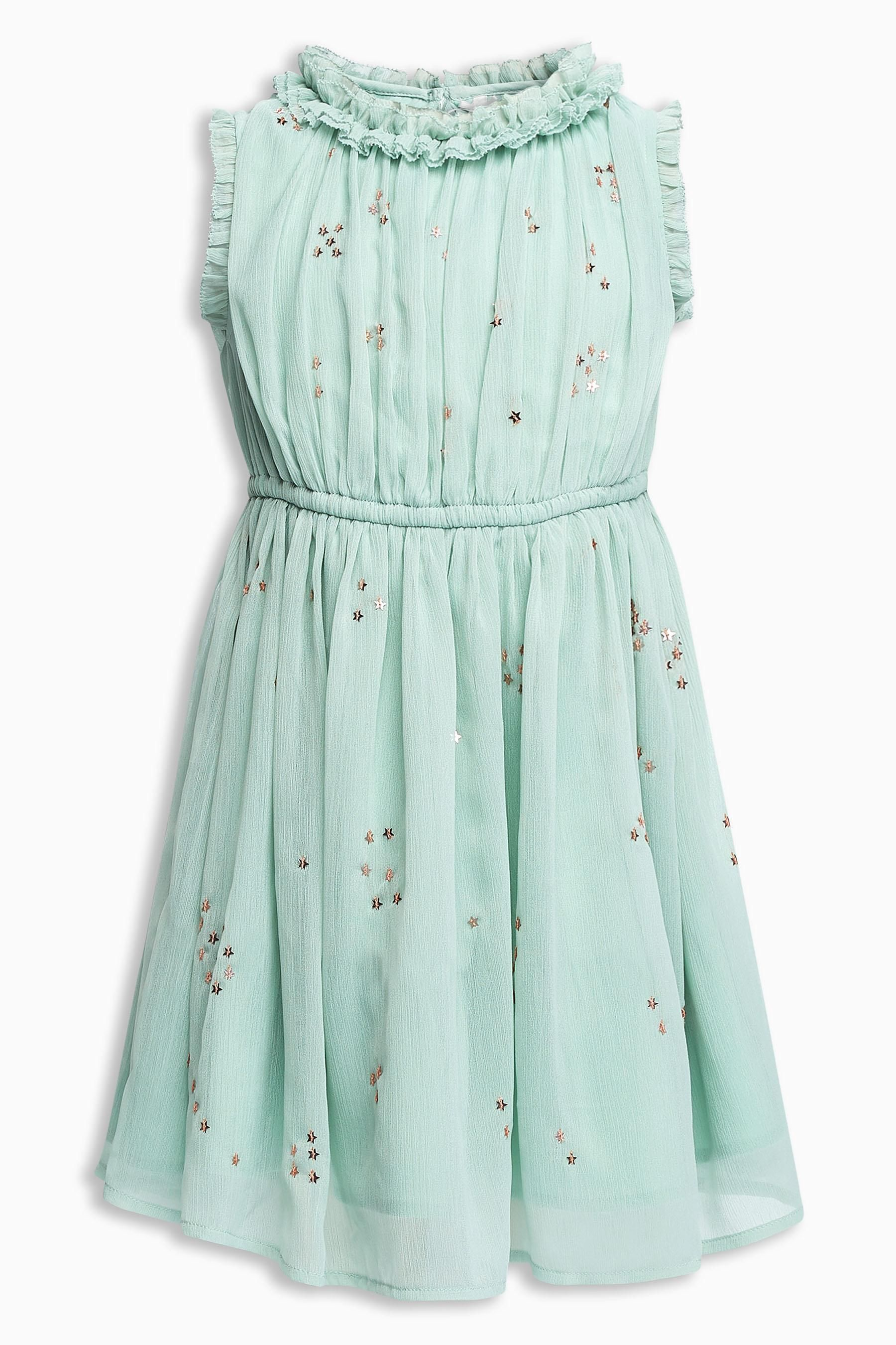 Buy Aqua Star Sequin Dress (3-16yrs) from Next USA | Moda de niñas ...