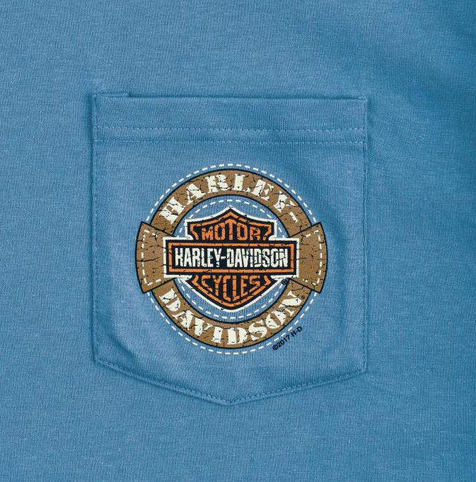 """""""Leather Patch"""" Hanes Beefy Pocket T Denim Available"""
