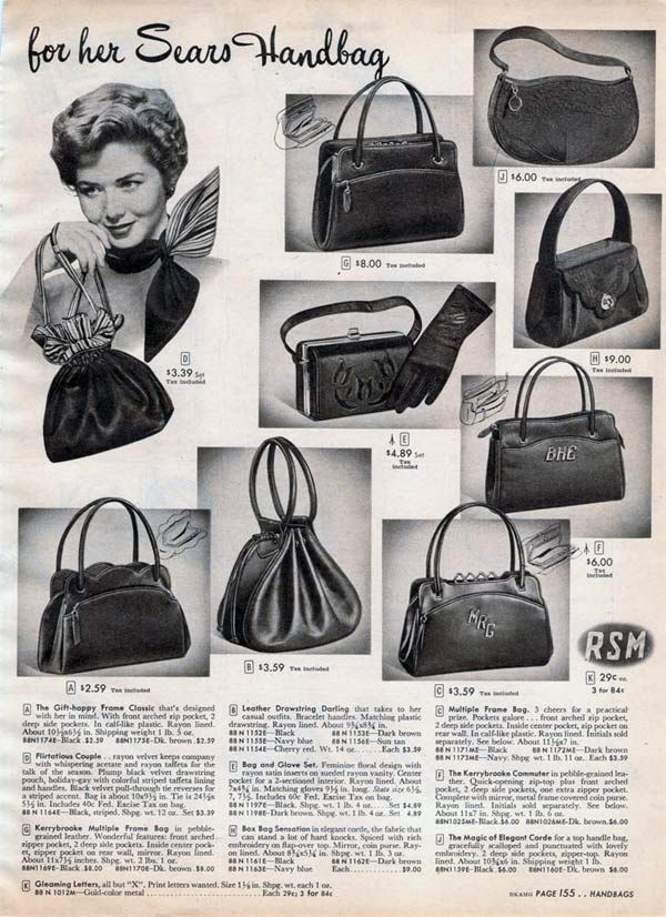 1950s Purses Handbags Styles Trends Pictures Vintage Bags 1950s Purses And Handbags Vintage Bags