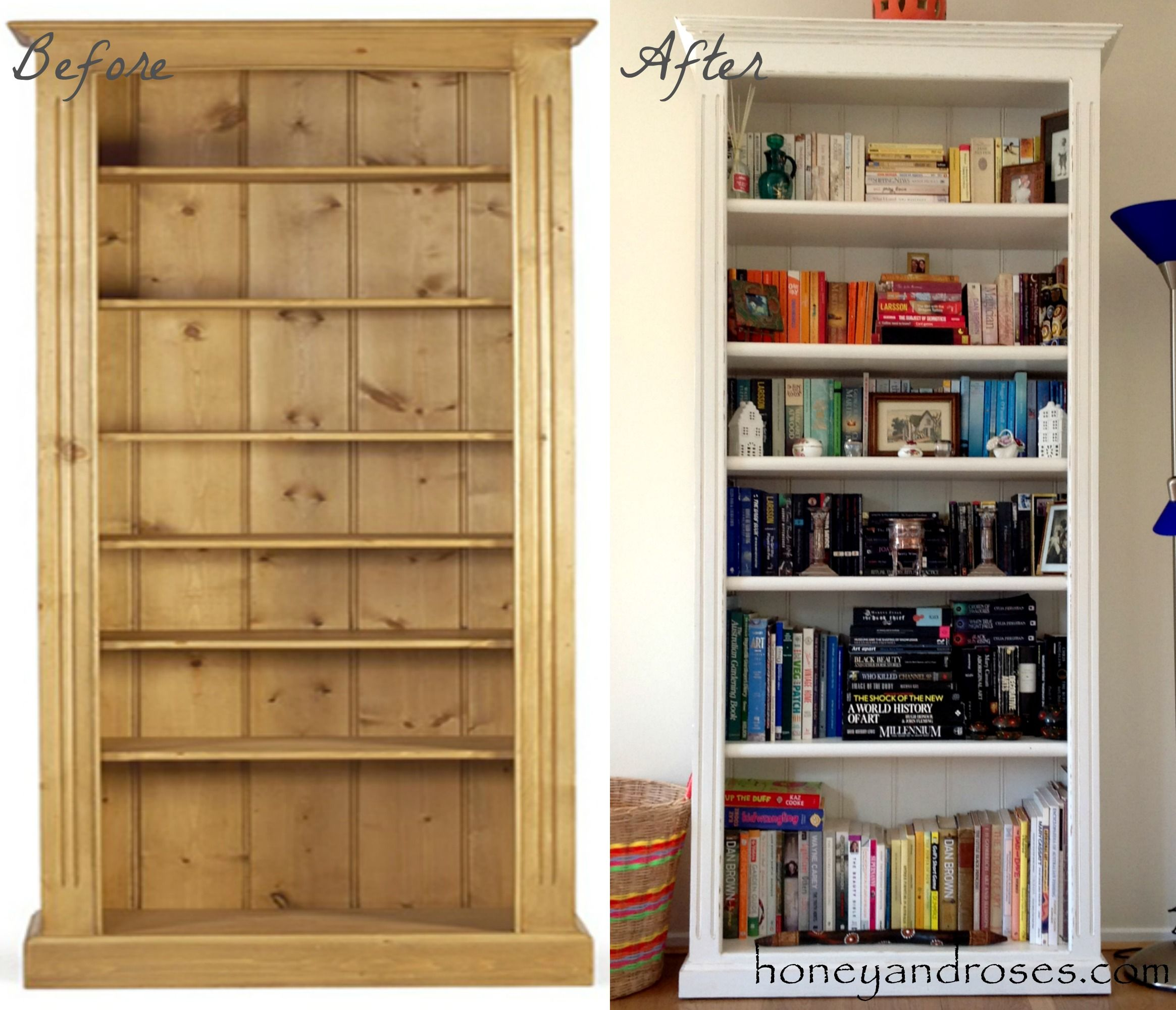 How To Makeover A Pine Bookcase Pine Bookcase Bookcase Makeover