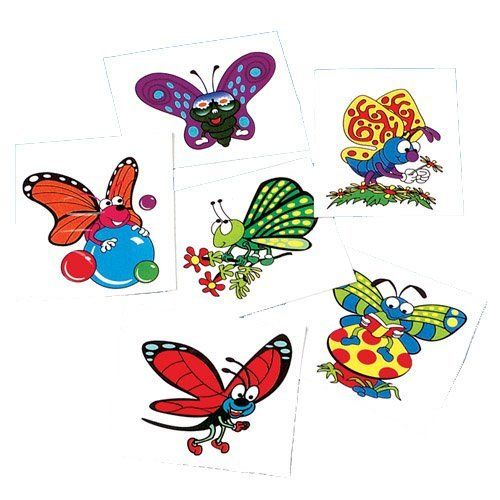 Butterfly Temporary Tattoos By US Toy Company. $14.99