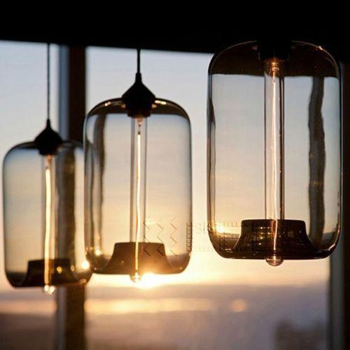 Fancy Details zu NEU Modern Retro Glas Deckenleuchte Lampe K che Bar Caf H ngende Deckenleuchte