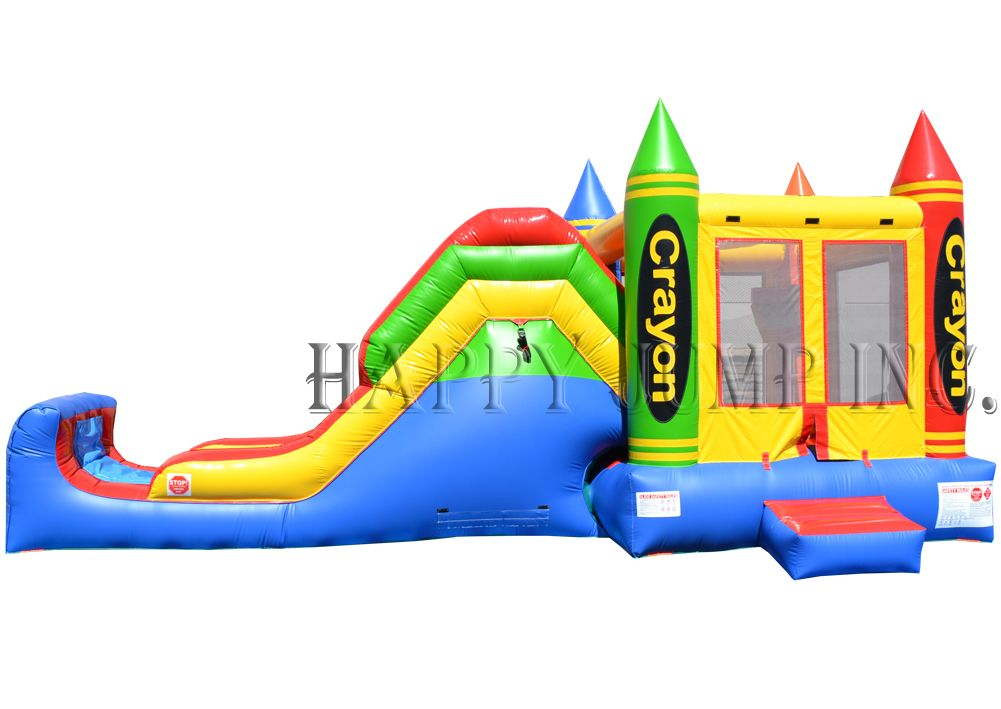 Backyard Jump U0026 Slide Crayon (Wet U0026 Dry): Bounce House For Sale