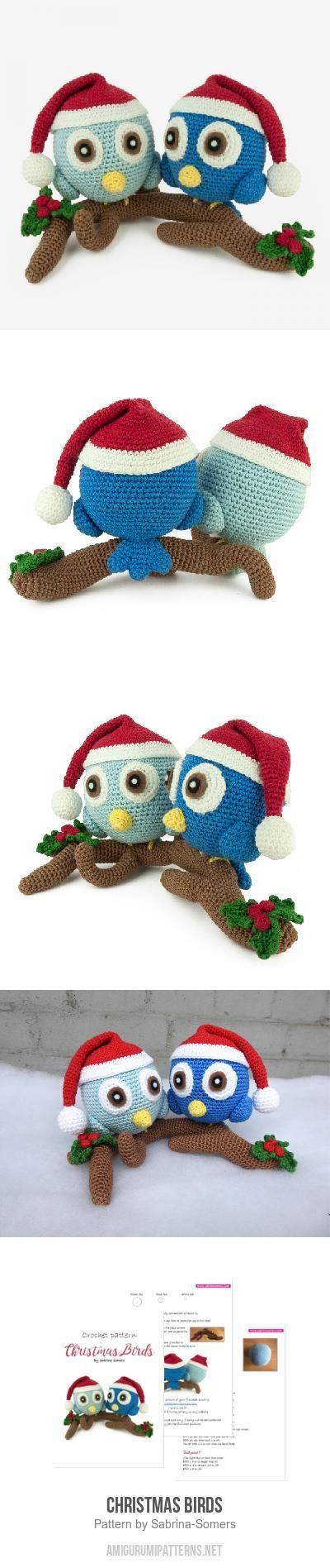 Christmas Birds amigurumi pattern | ideas | Pinterest | Prensa ...