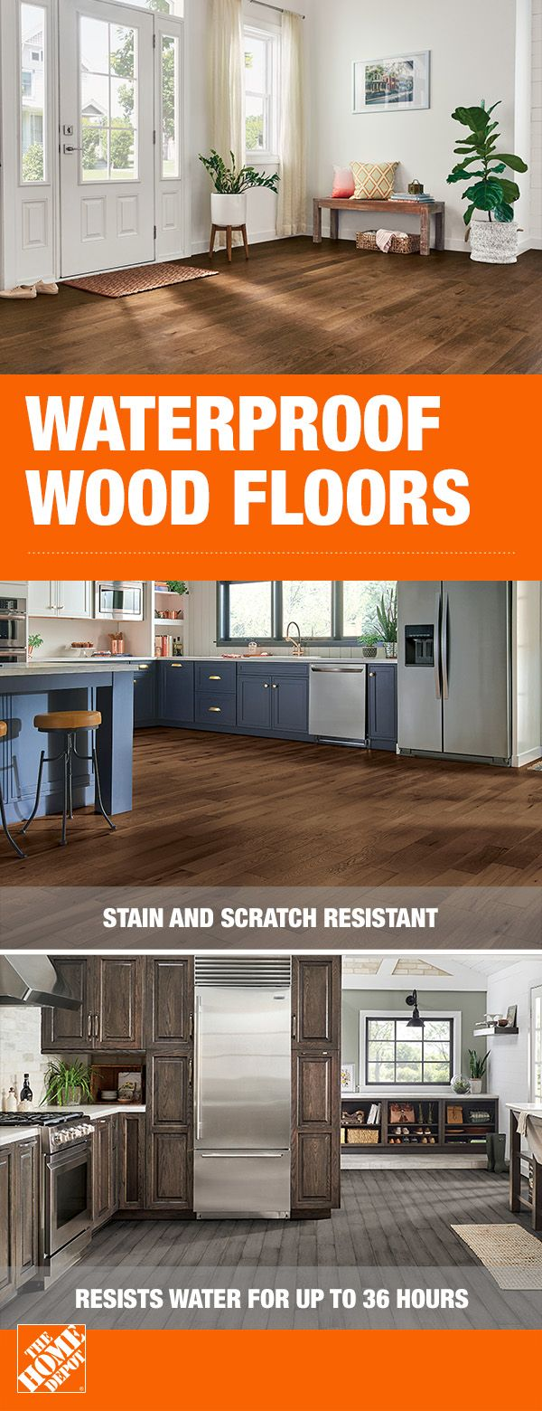 Enrich And Protect Your Home With Waterproof Hardwood Floors From The Home Depot These Hydropel Floors Interior Design Kitchen Small Home Remodeling Flooring