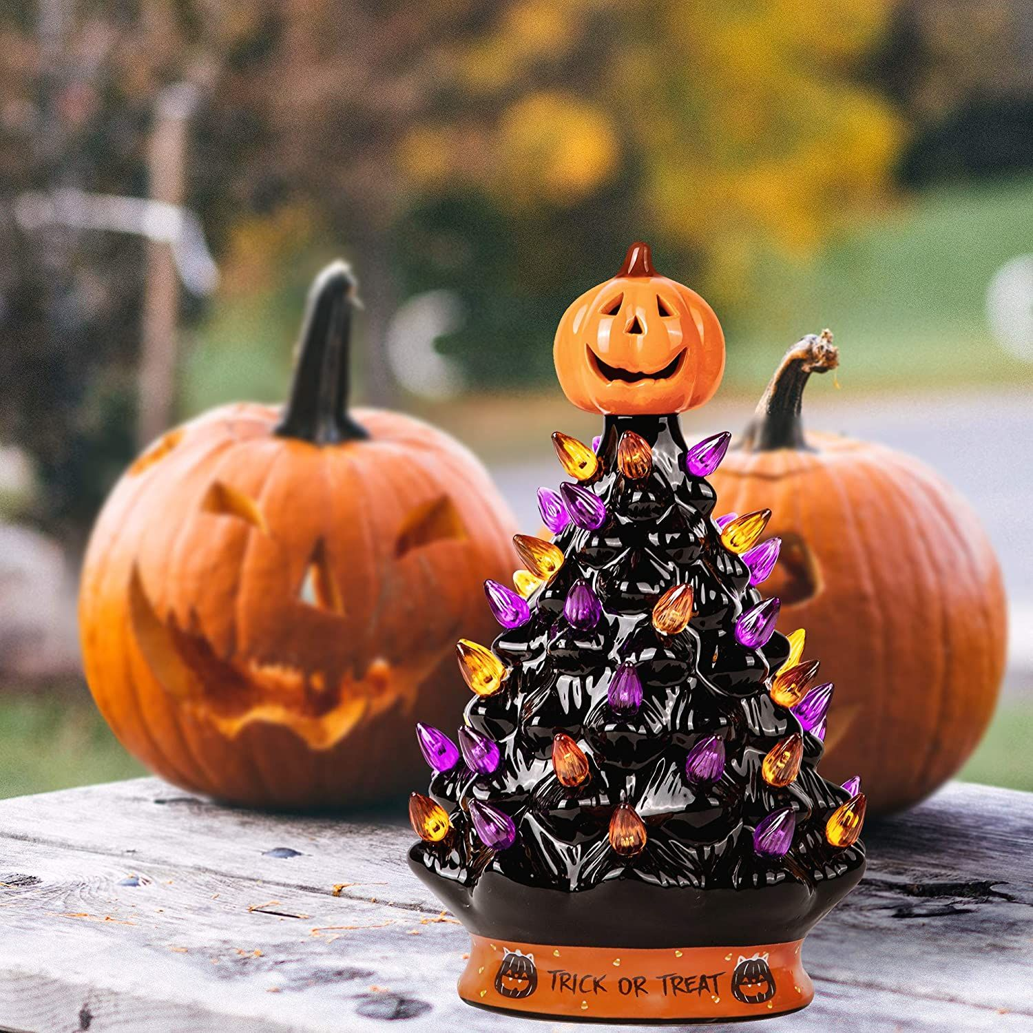 Amazon's Ceramic Halloween Tree Is Back In Stock—But Not for Long