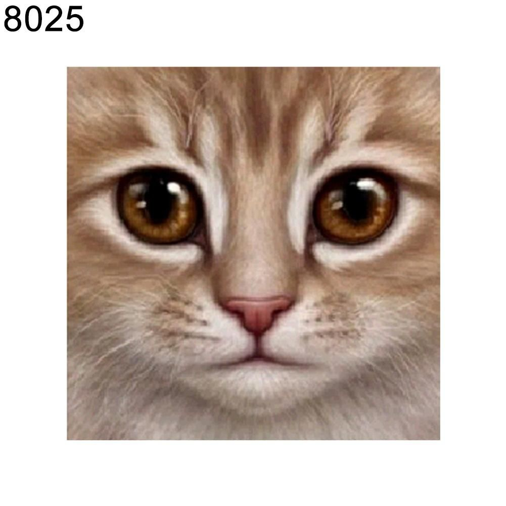 Photo of Cute Cat Pattern Frameless Diamond Painting DIY Cross Stitch Home Wall Decor – as the picture a